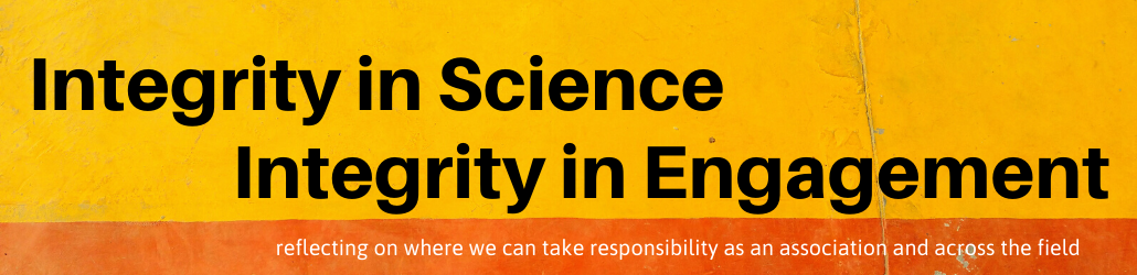 integrity in science, integrity in engagement